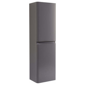 Modern Tall Wall Mounted Storage Cabinet With 2-Door and Inner Shelves