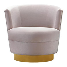 Noah Swivel Chair, Blush