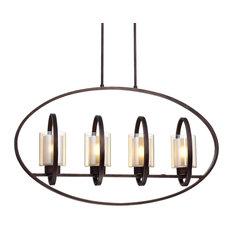 Aveca Oil-Rubbed Bronze Finish 4-Light Ceiling Chandelier