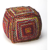 Butler Modern Gypsy Square Pouf With Multi-Color Finish 5293376