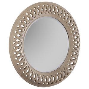 Sylvia Wall Mirror, 114x114 cm, Ivory