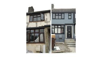 Painting exerior house plus pvc windows
