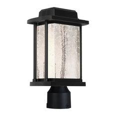Addison 1-Light Black Outdoor Post Light