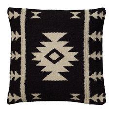 """Rizzy Home Woven Southwestern Patten Decorative Pillow, 18""""x18"""""""