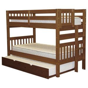 e6cd29803797fd Bedz King Bunk Beds Twin over Twin, End Ladder & Twin Trundle, Espresso