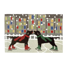 "Frontporch 1526/44 Holiday Ice Dogs Multi, 36""x24""x0.38"""