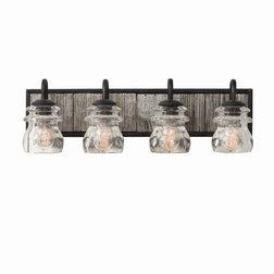 Industrial Bathroom Vanity Lighting by Designer Lighting and Fan