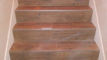 Plank Tile stair case