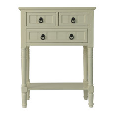 Wooden 3-Drawer Console Table, Antique White
