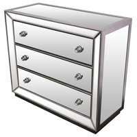 Special Edition Jameson 3-Drawer Chest, Silver With Mirrored Inlays