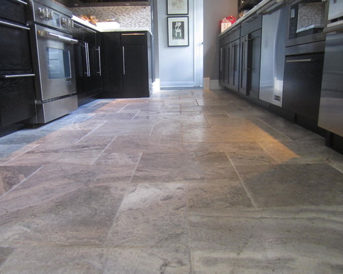 kitchen with travertine floors travertine kitchen floor houzz 6556
