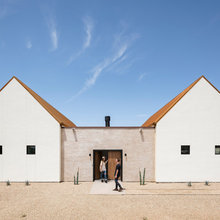 Minimalist Appeal for a Spanish Mission-Style House