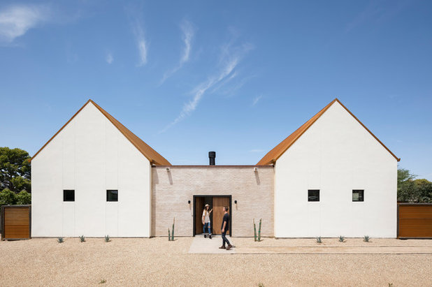 Minimalist Appeal For A Spanish Mission Style House
