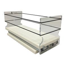 4x1x11 Storage Solution Drawer, Cream