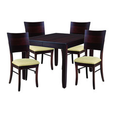 Palettes By Winesburg 5-Piece Cosmo Dining Table With Fresno Side Chair