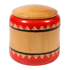 Consigned: Vintage Small Wood Round Box
