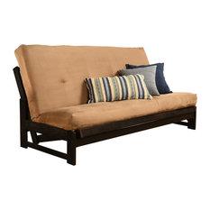 Kodiak Furniture Aspen Frame Reclaim Mocha Finish Suede Peat Mattress Futons