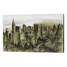 New York Midtown 78 by Peter Potter Canvas Art, Size 24x15.5