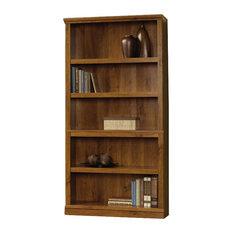 Sauder   Sauder Select 5 Shelf Bookcase In Abbey Oak Finish, Abbey Oak