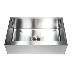 Ariel Stainless Steel Flat Front Apron Single Bowl Kitchen Sink 33