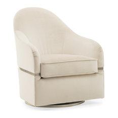 Modern Grace Velvet Swivel Chair