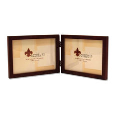 5x7 Hinged Double (Horizontal) Walnut Wood Picture Frame - Gallery Collection