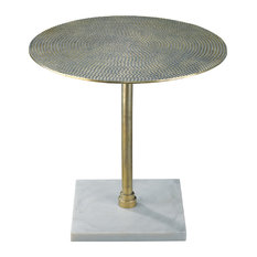 Jamie Young Nile Side Table In Antique Brass 20NILE-STAB