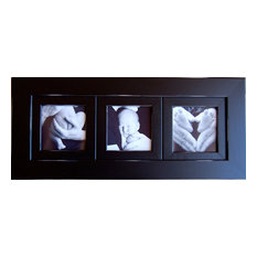 Collage Picture Frame With Three 8x8 Openings Black Triple Frame