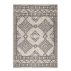 My Texas House by Orian South By Silver Area Rug, Silver, 9'x13'