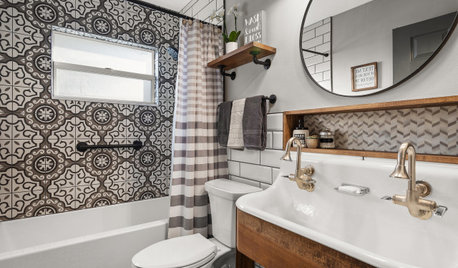 Bathroom of the Week: Vintage Industrial With a Pattern Play