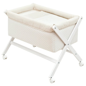 Galaxy Cot, 87x55 cm, Beige, Without Canopy