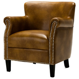 Gdf Studio Akula High Back Club Chair Traditional