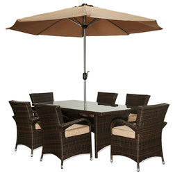 Fancy Traditional Outdoor Dining Sets by W Unlimited