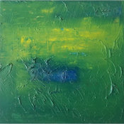 """""""Green Square"""" Oil Painting"""