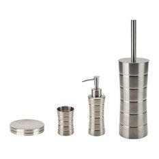 brushed nickel bathroom accessory sets  houzz, Bathroom decor