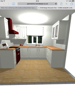 White Kitchen With Wooden Worktops what colour cabinets go with wooden worktops? don't say cream!