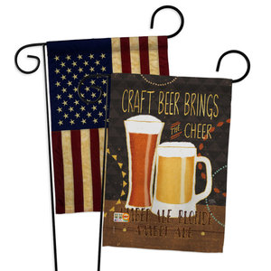 Drink Bad Beer Happy Hour And Drinks Everyday Garden Flag 13 X18 5 Contemporary Flags And Flagpoles By Breeze Decor Houzz