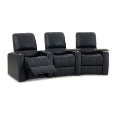 Octane Blaze XL900 Row of 3 Seats Curved, Manual Recline, Black Premium Leather
