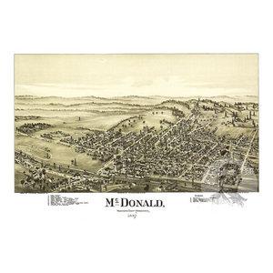 24x36 Vintage Reproduction Map Philadelphia Pennsylvania Delaware County 1926