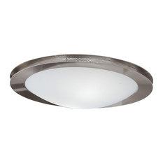 Eglo 2x60w Ceiling Light W/ Matte Nickel Finish & Satin Glass - 82691A