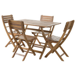 Transitional Outdoor Dining Sets by GDFStudio