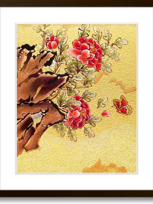 Hand Designed, Hand Framed Silk Embroidery Art