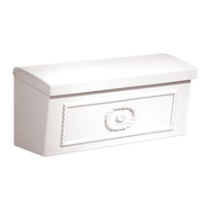 Salsbury Industries Townhouse Residential Wall Mounted Mailbox, 4560, White