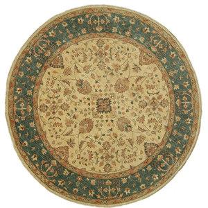 Ziegler Oriental Rug, Round, Pakistan Hand-Knotted, 246x246 cm
