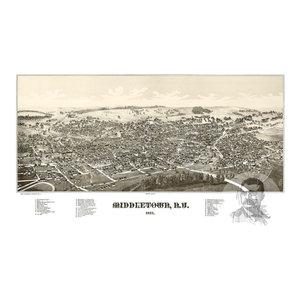 1887 Walton New York Vintage Old Panoramic NY City Map 24x36
