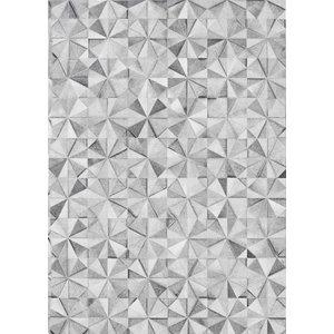 Linie Jasmine Leather Rug, Grey, 140x200 cm