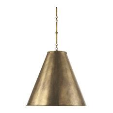 Antique brass pendant lighting houzz visual comfort 2 light hanging shade hand rubbed antique brass antique aloadofball Choice Image
