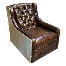 """Snowmass"" Tall Back Tufted Swivel Glider"