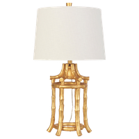 """Golden Bamboo Table Lamp, 29""""H"""