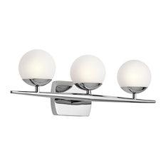 Bath 3-Light Halogen, Chrome
